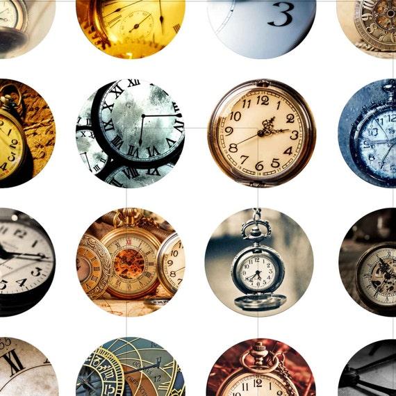 Vintage Clock Face Digital Collage Sheet by AlbatrossCreation
