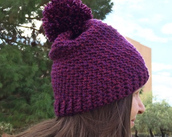 Everly Slouchy Beanie, Adult Beanie, Adult Toque, Slouchy Beanie, Slouchy Toque, made to order