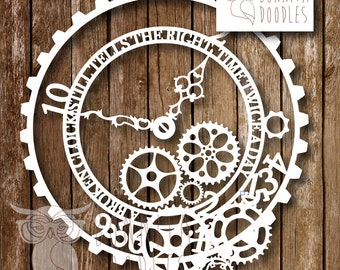 A Broken Clock.... A4 Commercial cutting template