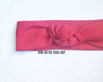 CHERRY RED knotted headband