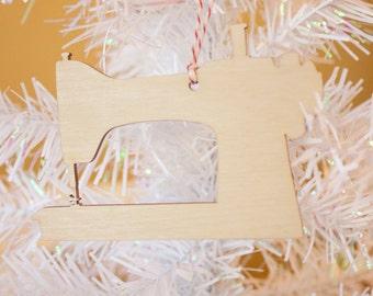 Sewing Machine Ornament - Wood Ornament - Christmas Ornament