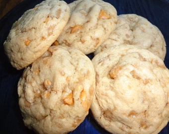 Mouth Watering Homemade Soft Toffee Cookies (2 Dozen)