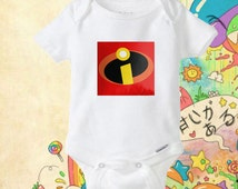 The Incredibles logo onesie,The Incredibles logo bodysuit - Suitable for gift kids babies
