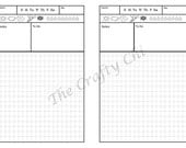 Hobinichi/Insert For Your Traveler's Notebook - Micro  digital download Printable