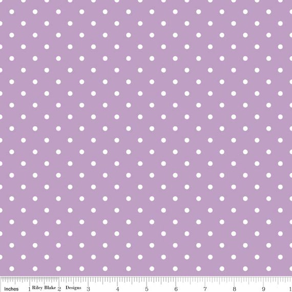 Riley Blake Basics Swiss Dot Lavendar 1/2 yard -3/4 yard