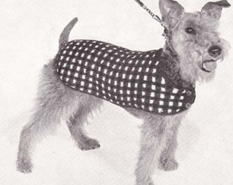 Knit Dog Coat His Majesty Knitted Puppy Blanket Sweater Knitting Pattern Instant Download Sizes 12 14 16 18