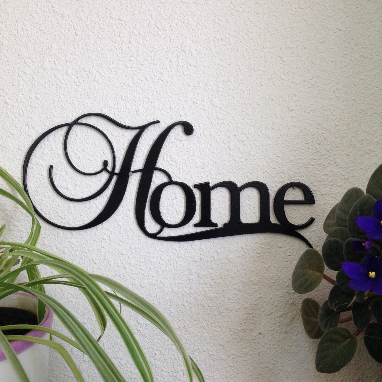 Inspirational Art The Word Home Metal Wall