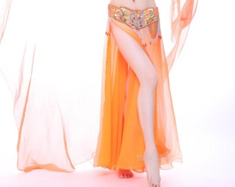 Hot selling woman beautiful belly dance  Skirt Slit Both Side