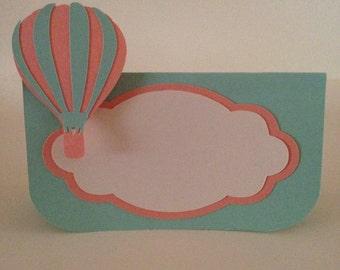 Hot air balloon food tent,Hot air balloon food labels,Hot air balloon food cards,Hot air balloon place cards,Food tents,Food cards