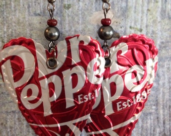 Up-cycled Dr Pepper Soda Can Earrings