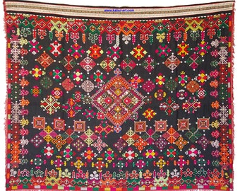 antique original Pakistan Afghanistan nuristan kohistan swat Woman embroidered Shawl jumlo No:1