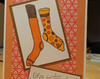 Non matching socks card