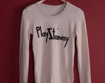 Valentines Sale! Play Stairway Thermal Led Zeppelin robert Plant tri blend