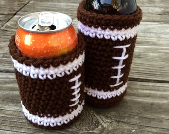 Football Bottle and Can Cozy