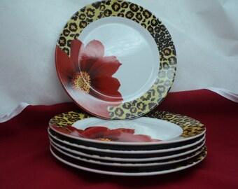 6 vintage porcelain plates. Turkey Production 1990s