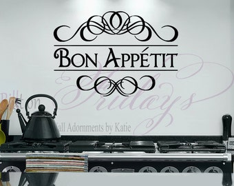 Bon Appetit Kitchen Vinyl Wall Decal Sticker