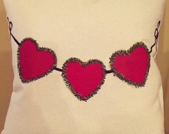 Valentine Decor/Valentine Pillow/Heart Pillow/Hearts/Heart Decor