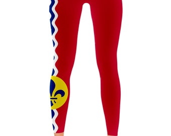 St. Louis Missouri City Flag Leggings - My State Shirts
