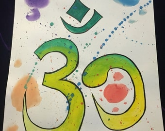 Om water color painting