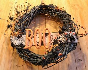 Halloween Wreath - BOO