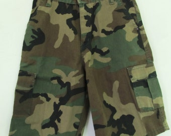Boy's Vintage 80's,CARGO Style Army CAMO Shorts.12