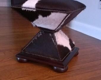 Baker Furniture # 409 Pony Hair Ottoman