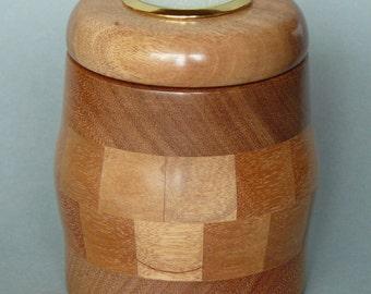 PU008 small ballot box in mahogany