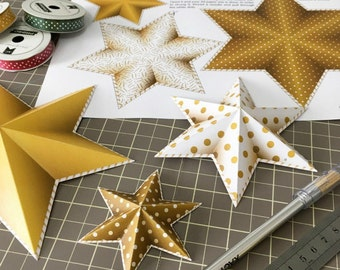 New years eve decorations, printable gold stars garland, NYE party decoration, Instant download printable NYE decoration.