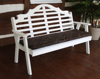 5-Foot Bench, Swing & Glider Cushion ONLY - 2-Inches Thick - Stain Resistant - Outdoor - Porch - Deck - Patio - Handmade - Amish Made in USA