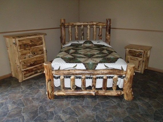 Https Www Etsy Com Listing 260973261 Rustic Aspen Log 3 Pc King Bedroom Set