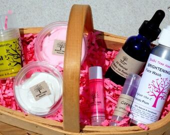 Natural Skin Care Gift set - Skin Care Gift kit - Sampler kit - 7 piece kit by BodhiTreeNaturals