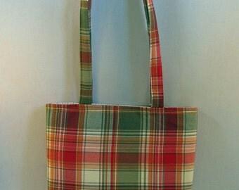 Red Check Shirt Tote Bag