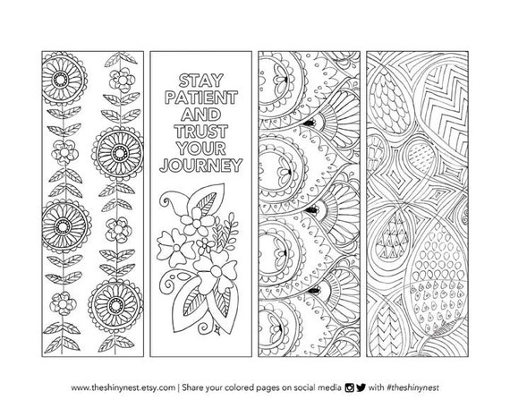 Coloring Bookmarks Printable coloring page Printable