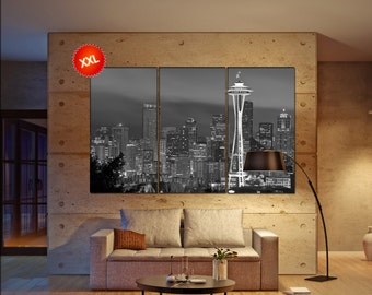 Seattle Wall Art seattle canvas art | etsy