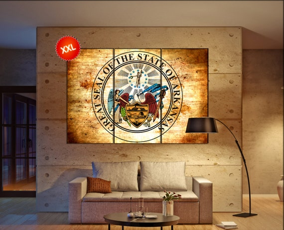 arkansas seal flag  canvas arkansas seal flag wall decoration arkansas seal flag canvas art arkansas seal flag large canvas