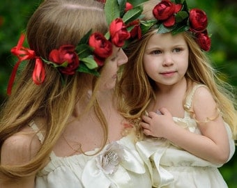MOMMY AND ME flower crown set, Bohemian headpiece, Boho flower crown, Bridal Bohemian headpiece, crown