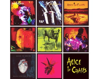ALICE IN CHAINS 9 pack of album cover discography magnets