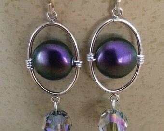 Purple Party Earrings