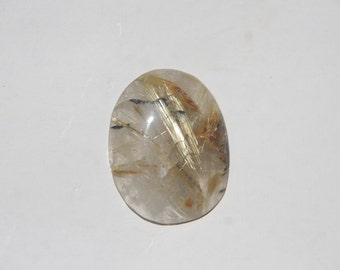 Rulited Quartz Cabochon