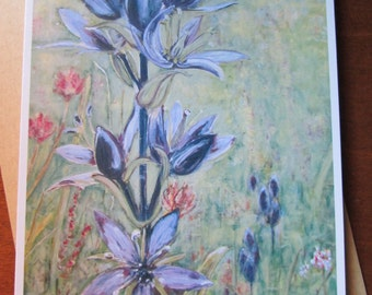 Alpine Flowers 5x7 Blank Card