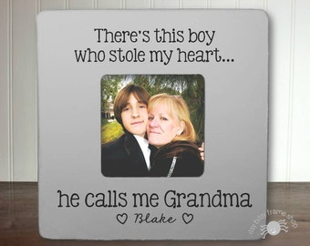 Gifts for Grandma Grandma Gift Mother's Day Gift Grandma Personalized Frame There's This Boy Who Stole My Heart He Calls Me Grandma IB2FSMAG