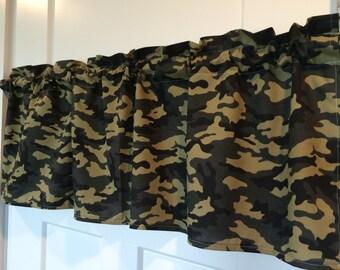 Camouflage Camo Curtain Valance