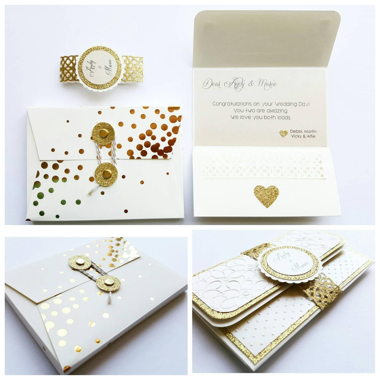 Wedding Gift Money Holder : Custom Money Holder Card Wedding Anniversary Baby Shower