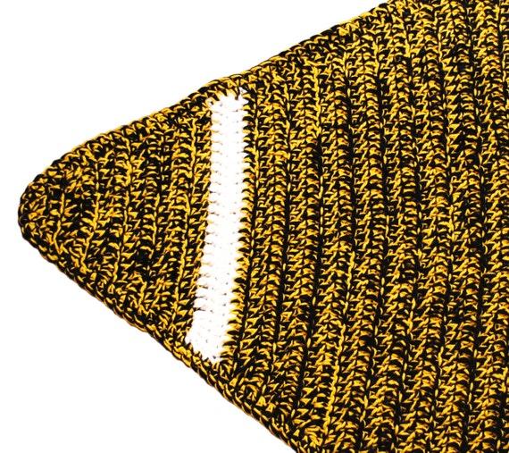 Pattern-Football Shaped Throw Rug