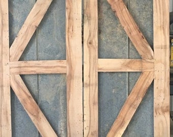 Rustic barn door with tin