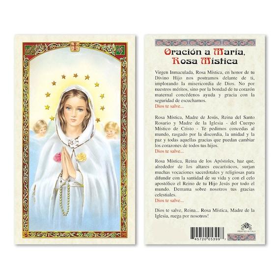 Oracion a maria rosa mistica tarjetas de rezo en espanol like this item thecheapjerseys Gallery