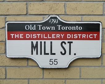 Toronto Street Sign - The Distillery District