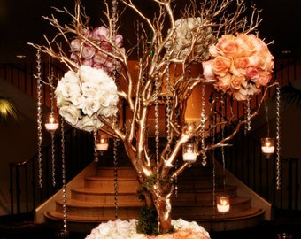 "16"" Tall Tree CHAMPAGNE GOLD Manzanita Branches Only Centerpiece DIY Wedding, Anniversary"