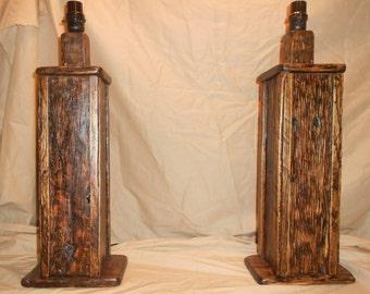 Beautiful Rustic  Table Lamps