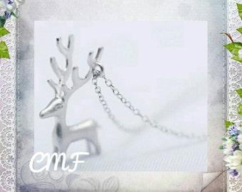 Deer Necklace 925 Sterling Silver Necklace Deer Pendant